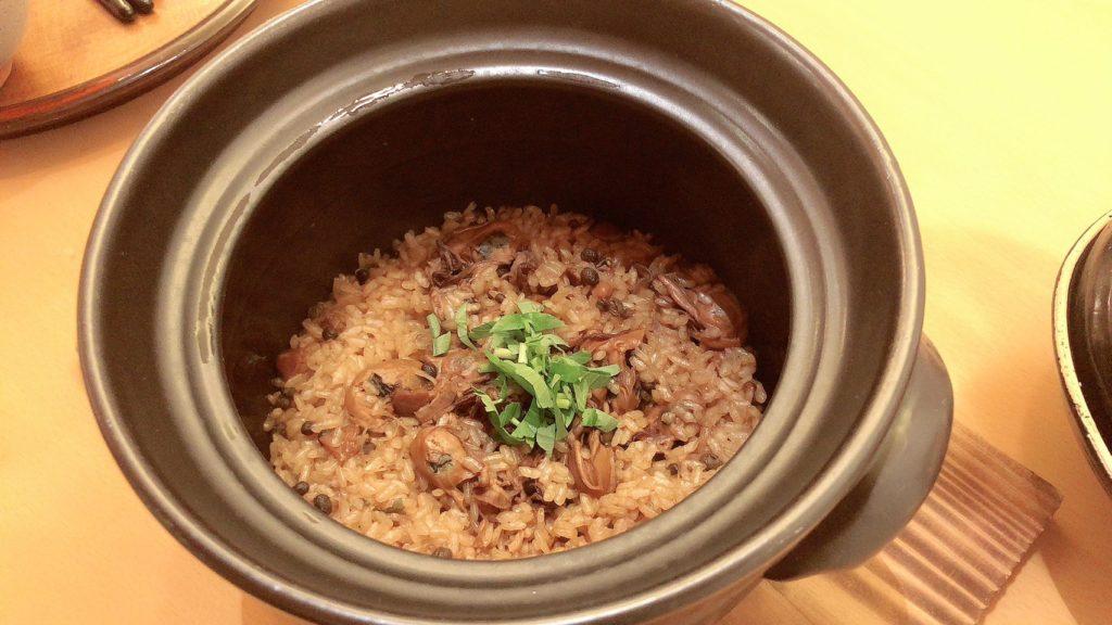 牡蠣の時雨煮の炊き込みご飯